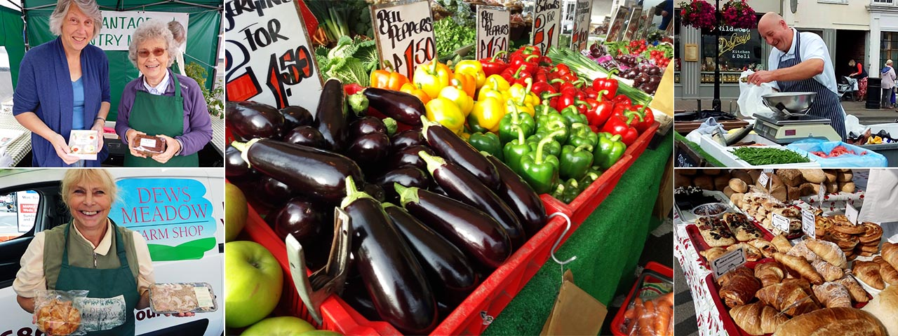Fresh produce and traders at monthly Wantage Farmers Market